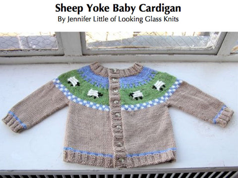 Sheep yoke cardigan Princess Charlotte style