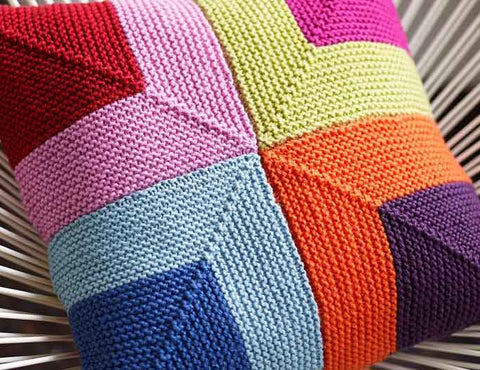 square knitted cushion