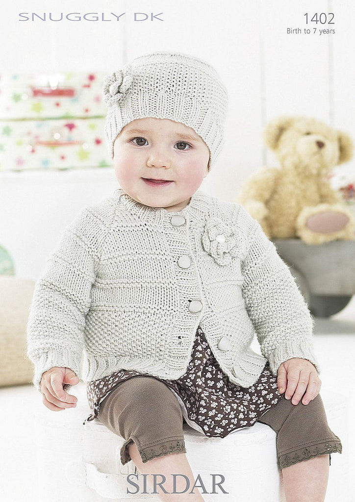Cardie and Hat in Sirdar Snuggly DK (1402) - PDF Download