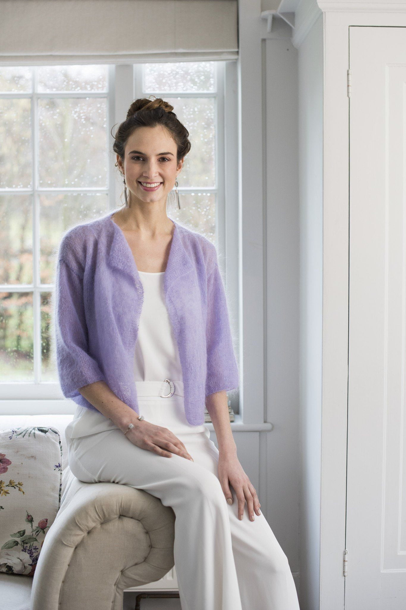 Waterfall Front Mohair Cardigan Knitting Pattern – The Knitting Network