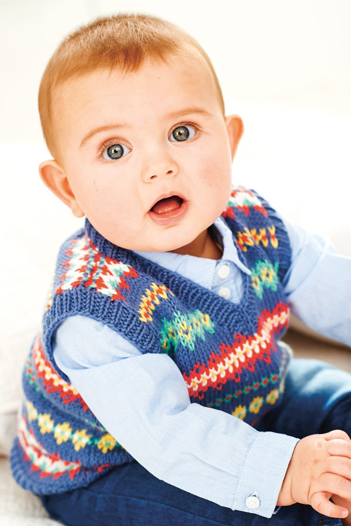 Baby Fair Isle Tank Top Knitting Pattern
