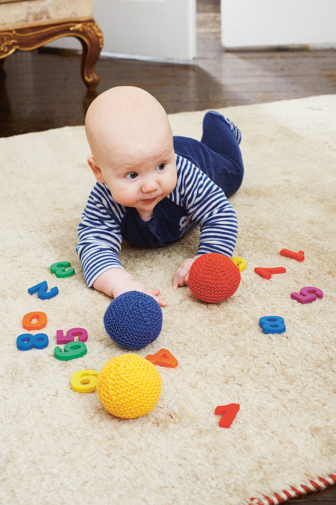 Soft knitted ball perfect for babies to play with