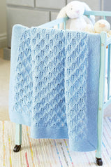 Baby Cot Blanket Knitting Pattern - The Knitting Network