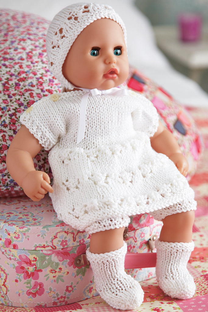 Baby Doll Clothes Set Knitting Pattern - The Knitting Network
