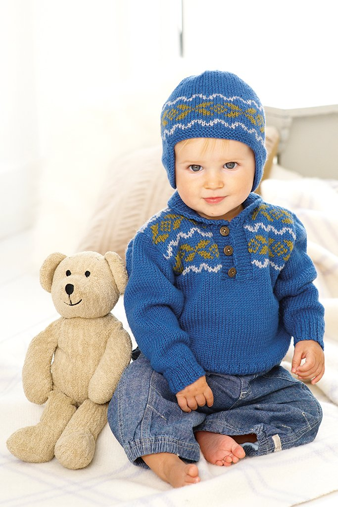 Baby Fair Isle Sweater And Hat Knitting Patterns – The Knitting ...