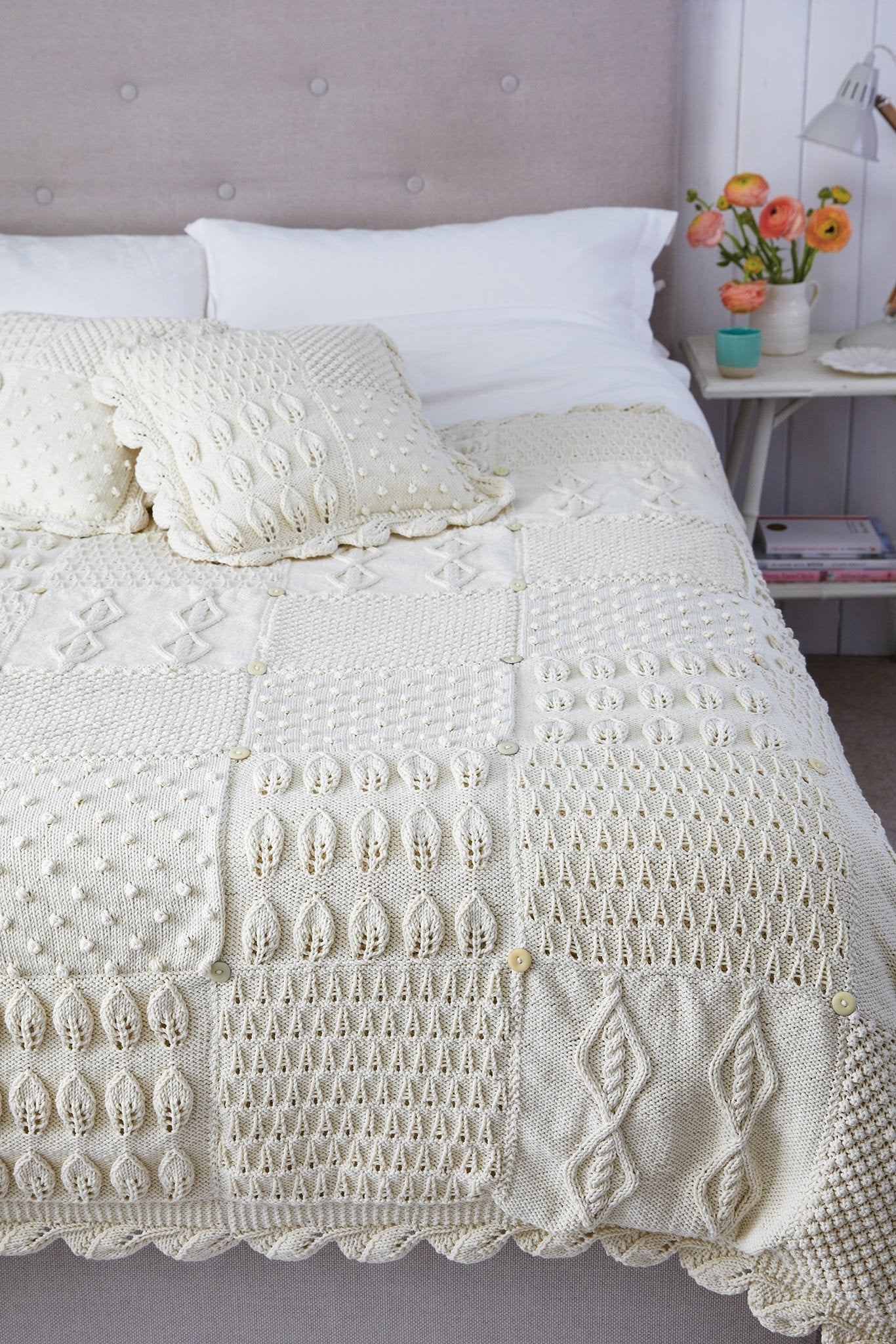 Bed Topper And Cushion Knitting Patterns   The Knitting Network