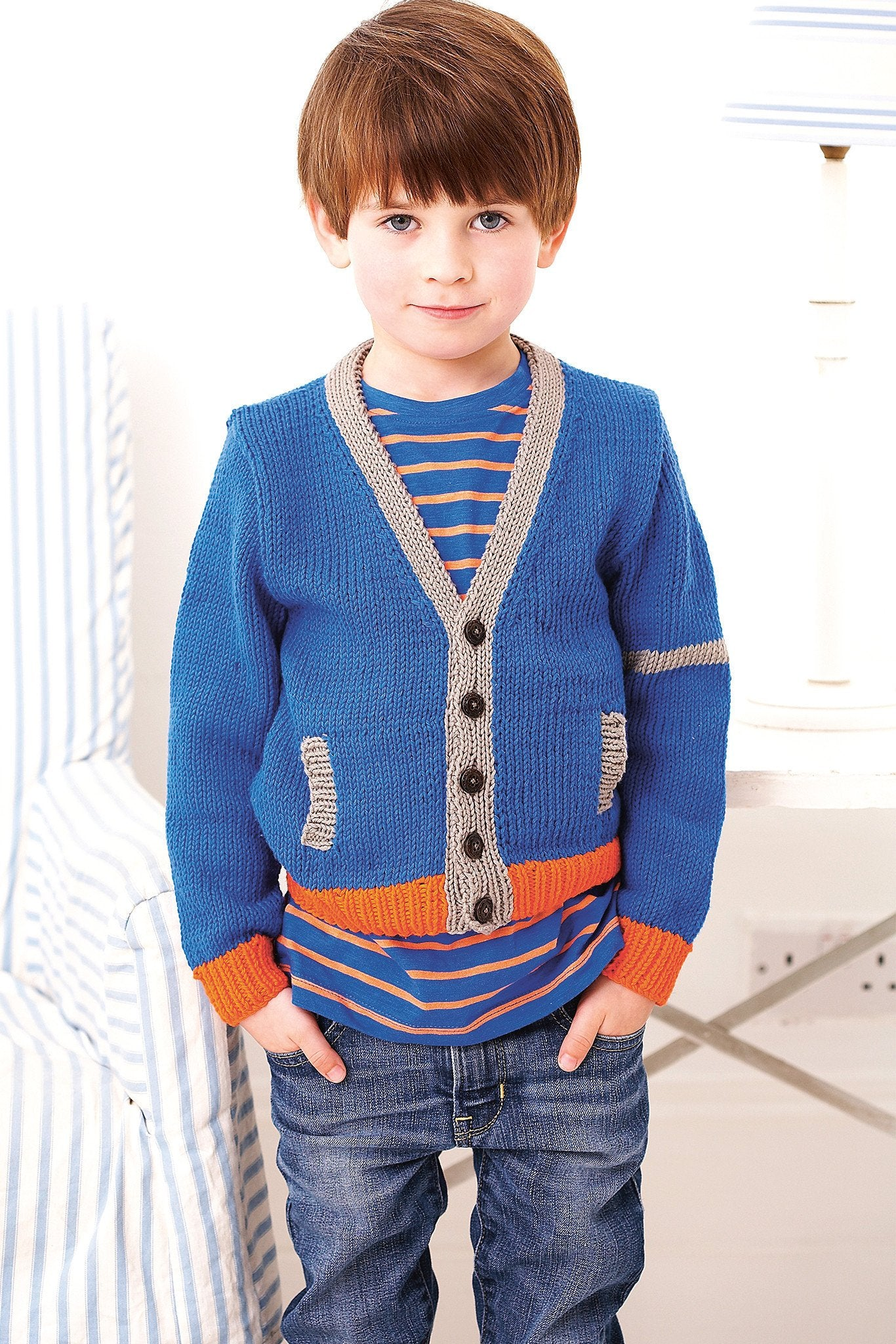 Knitting Pattern For Cardigan With Pockets : Boys Cardigan With Pockets Knitting Pattern   The Knitting Network