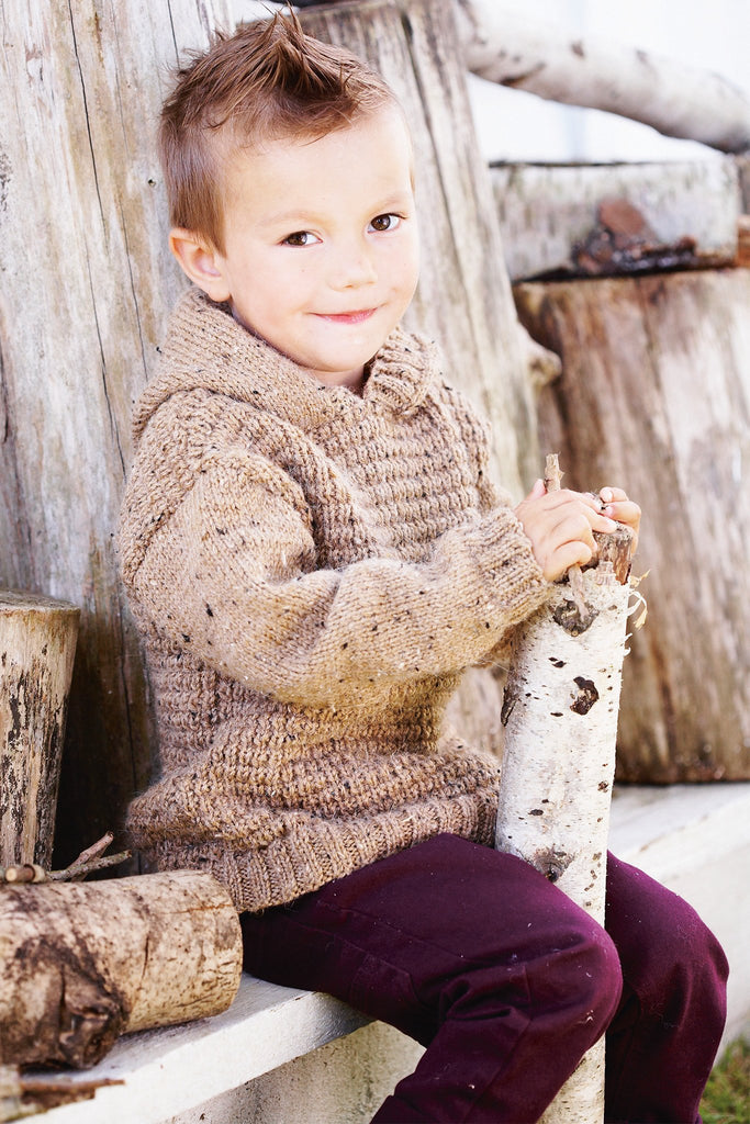 Boys Hoodie Knitting Pattern - The Knitting Network