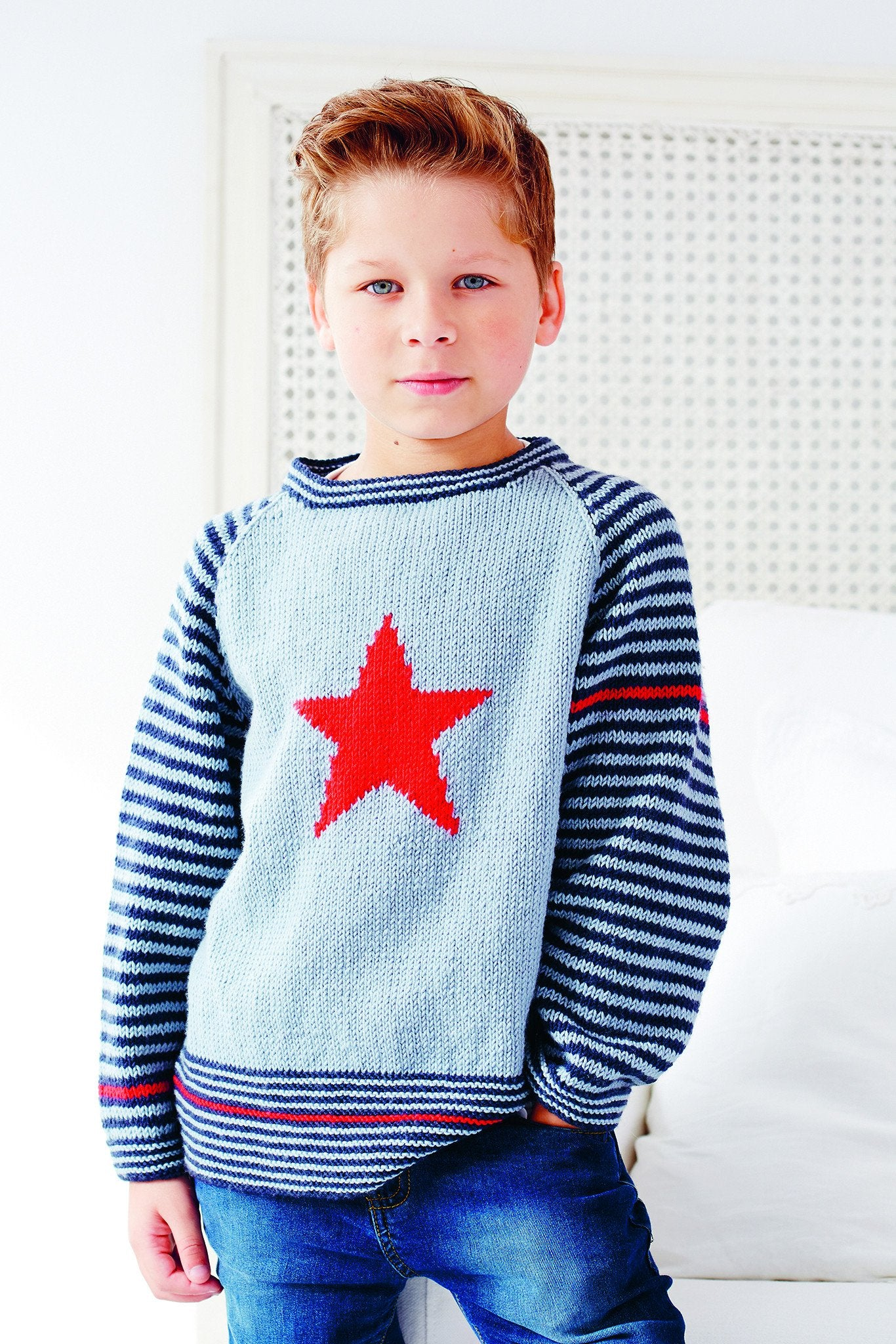Knitting Networkcouk Freebie : Boys jumper with stars and stripes knitting pattern the