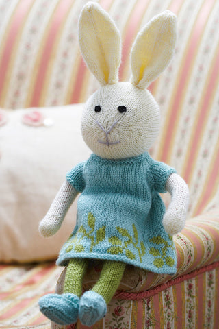 Bunny Rabbit Girl Toy Knitting Pattern - The Knitting Network