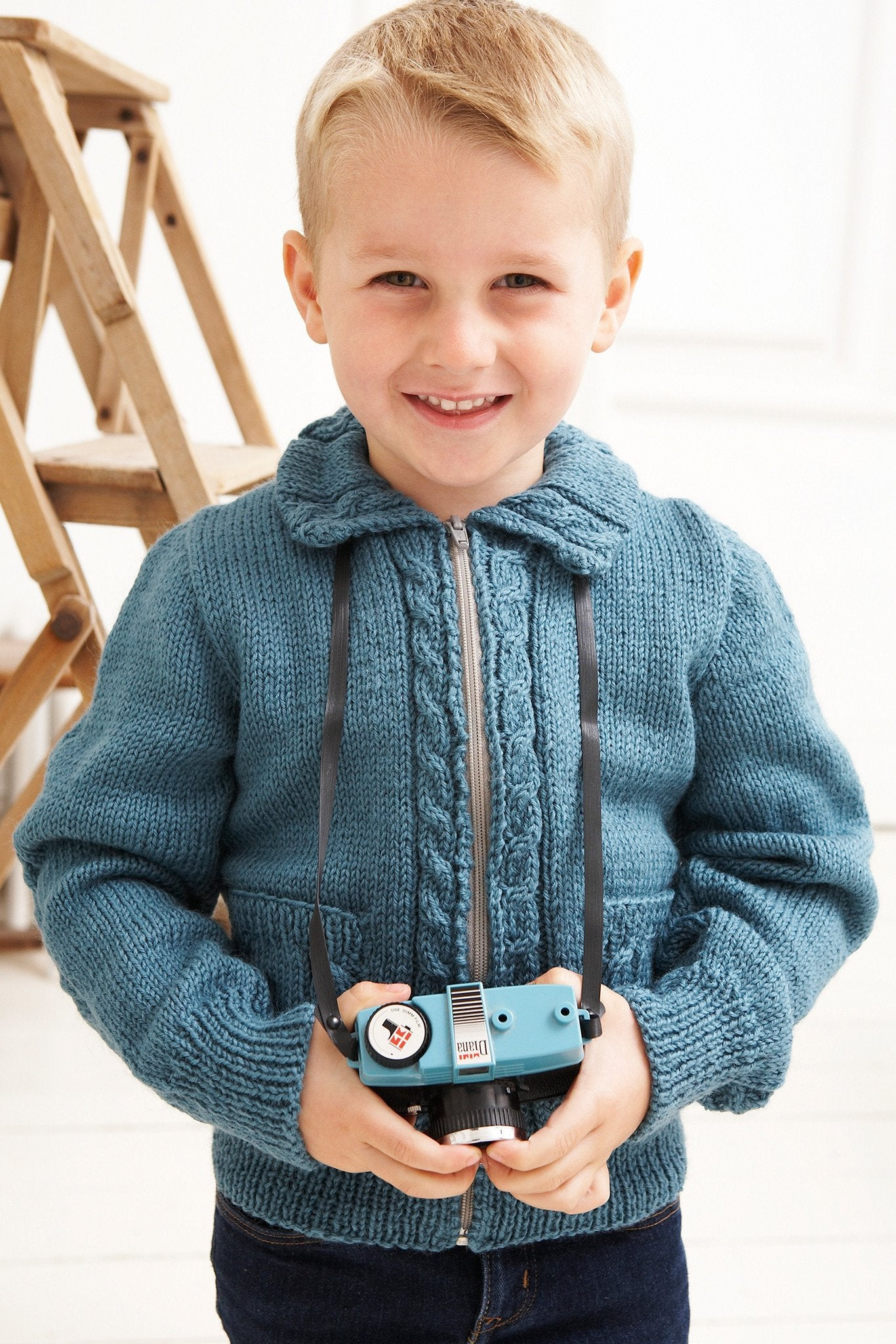 Cable Cardigan Boys Vintage Knitting Pattern – The Knitting Network
