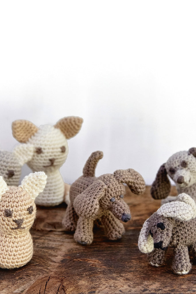 Amigurumi Dog Knitting Patterns : Cat & Dog Amigurumi Animals Crochet Pattern The Knitting ...