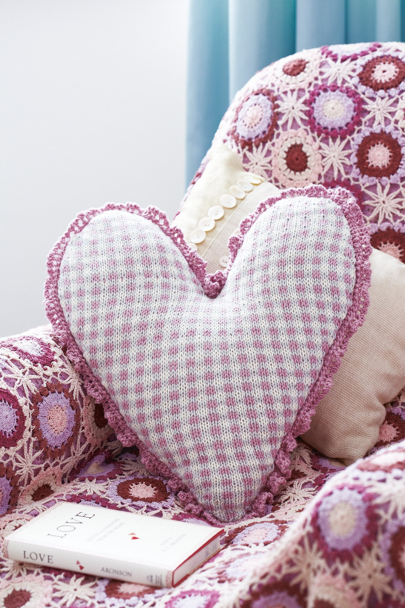 Checked heart cushion cover knitting pattern the knitting network checked heart cushion cover knitting pattern the knitting network bankloansurffo Gallery