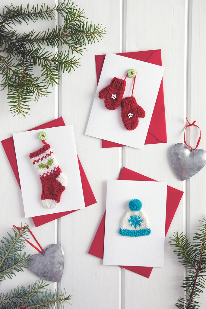 Knitting Patterns For Christmas Cards : Christmas Card Set Knitting Pattern   The Knitting Network