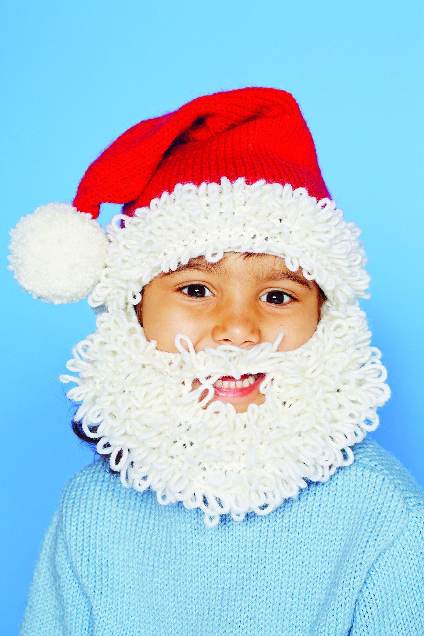 Christmas santa kids hat knitting pattern the knitting network childrens knitted santa hat with beard bankloansurffo Images