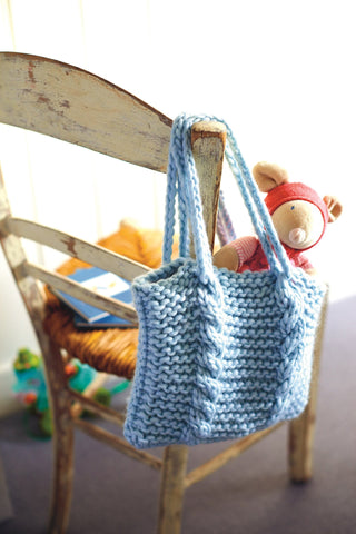 Chunky Bag Knitting Pattern - The Knitting Network