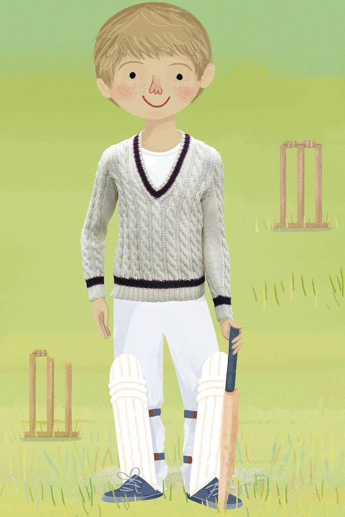 Cricket Jumper Boys Knitting Pattern - The Knitting Network