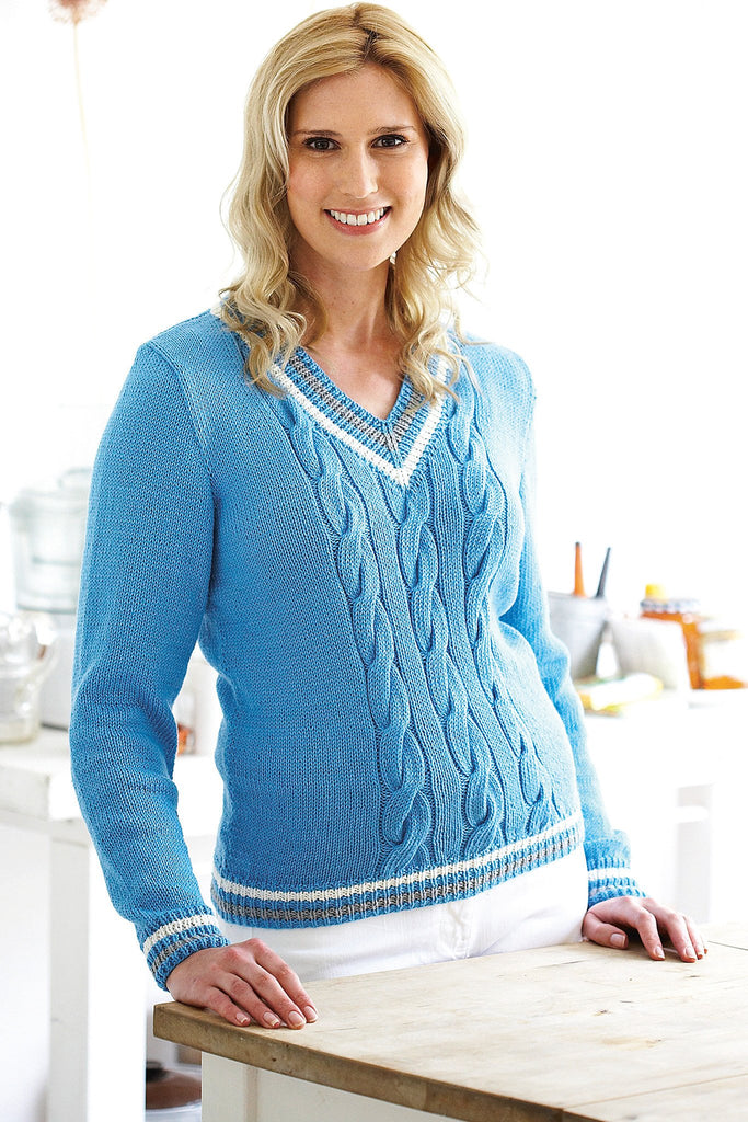 Cricket Jumper Ladies Knitting Pattern - The Knitting Network
