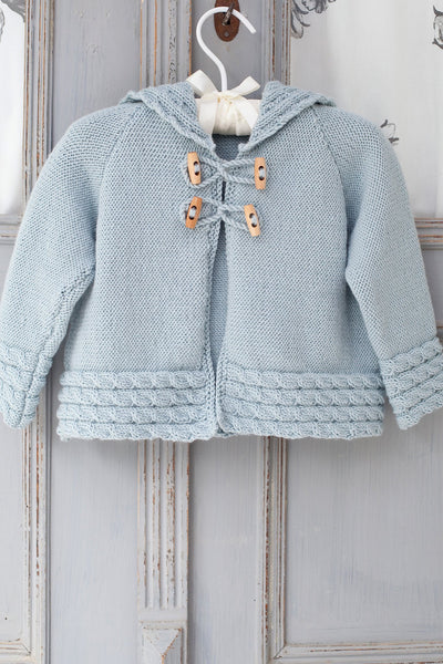 Baby Duffle Coat With Toggles Knitting Pattern The