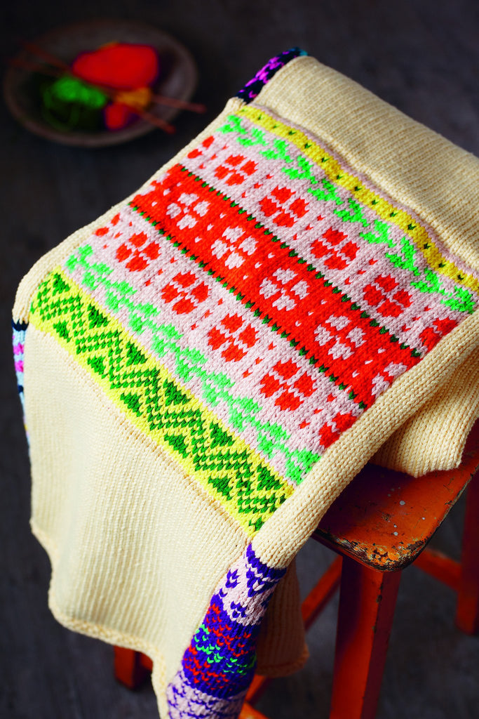Fair Isle Square Blanket Knitting Pattern – The Knitting Network