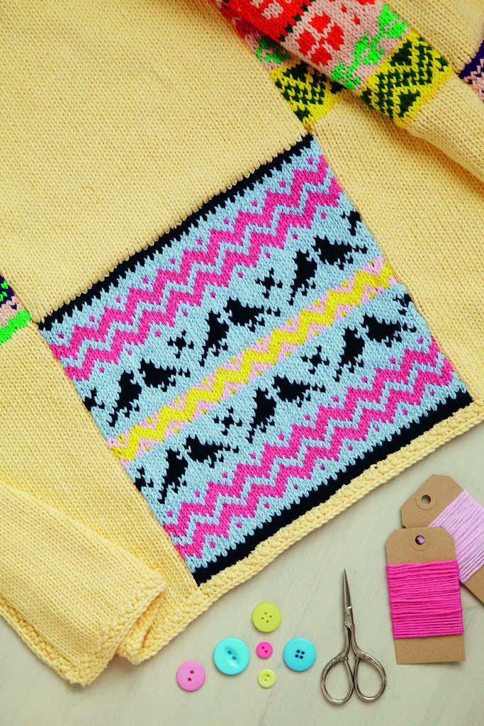 Knitting Network Stickman : Fair isle square blanket knitting pattern the