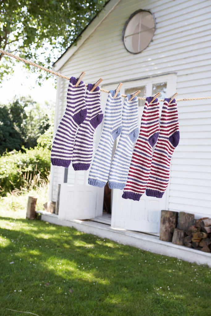 Family Stripy Socks Knitting Patterns - FREE (enter SUMMER16 at checkout) - The Knitting Network