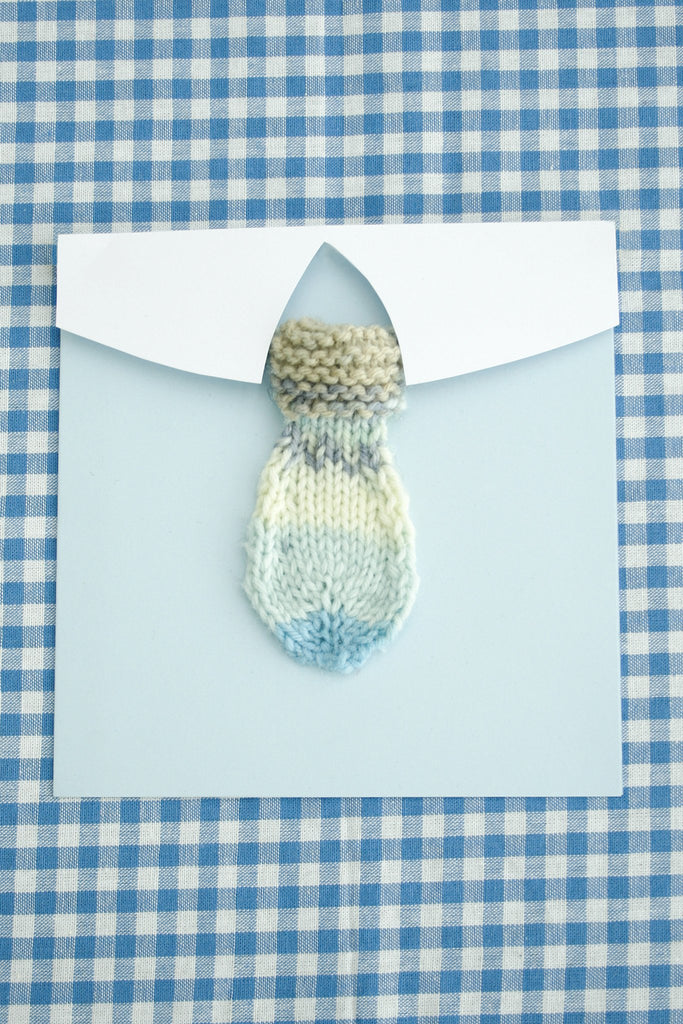 Father's Day card with knitted tie