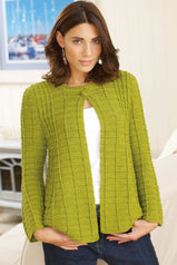 Fit And Flare Womens Jacket Crochet Pattern - The Knitting Network