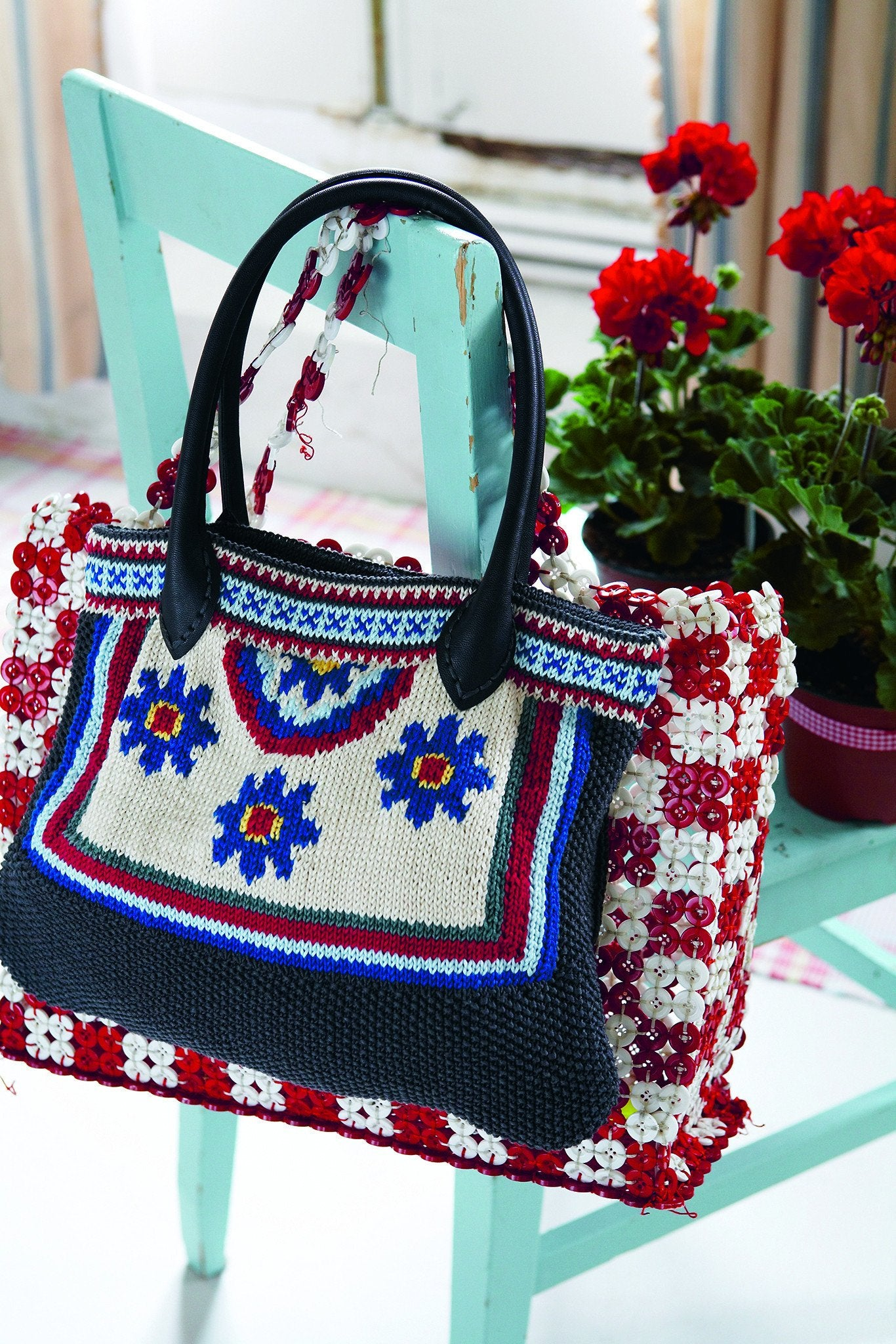 Floral fair isle and intarsia bag knitting pattern the knitting floral fair isle and intarsia bag knitting pattern bankloansurffo Gallery