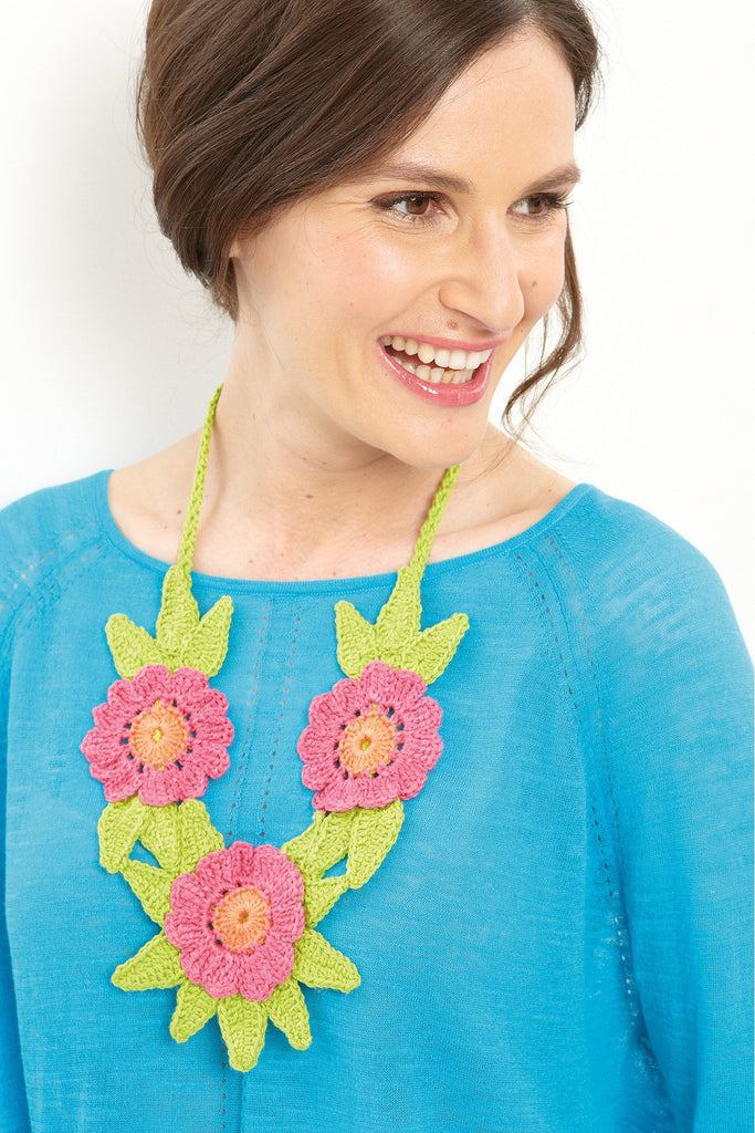 Flower Necklace Crochet Pattern - The Knitting Network
