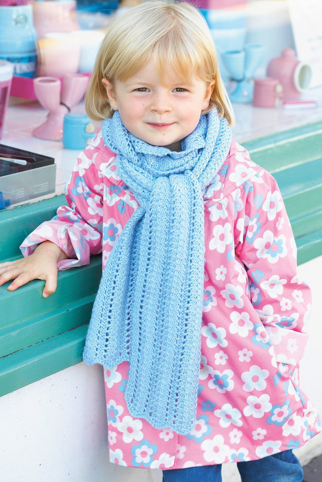 Girls Winter Lace Scarf Knitting Pattern – The Knitting Network