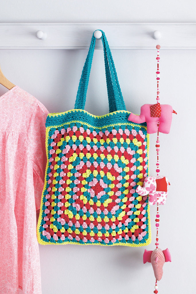 Granny Square Bag Crochet Pattern The Knitting Network
