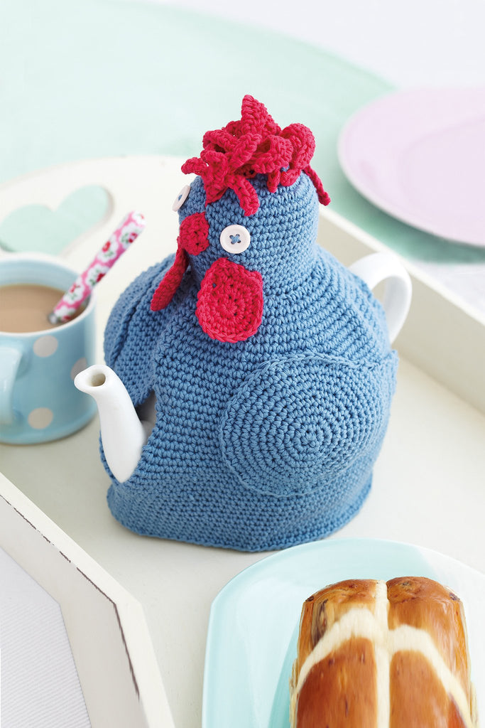 Keep your pot of tea warm with a crochet hen cosy