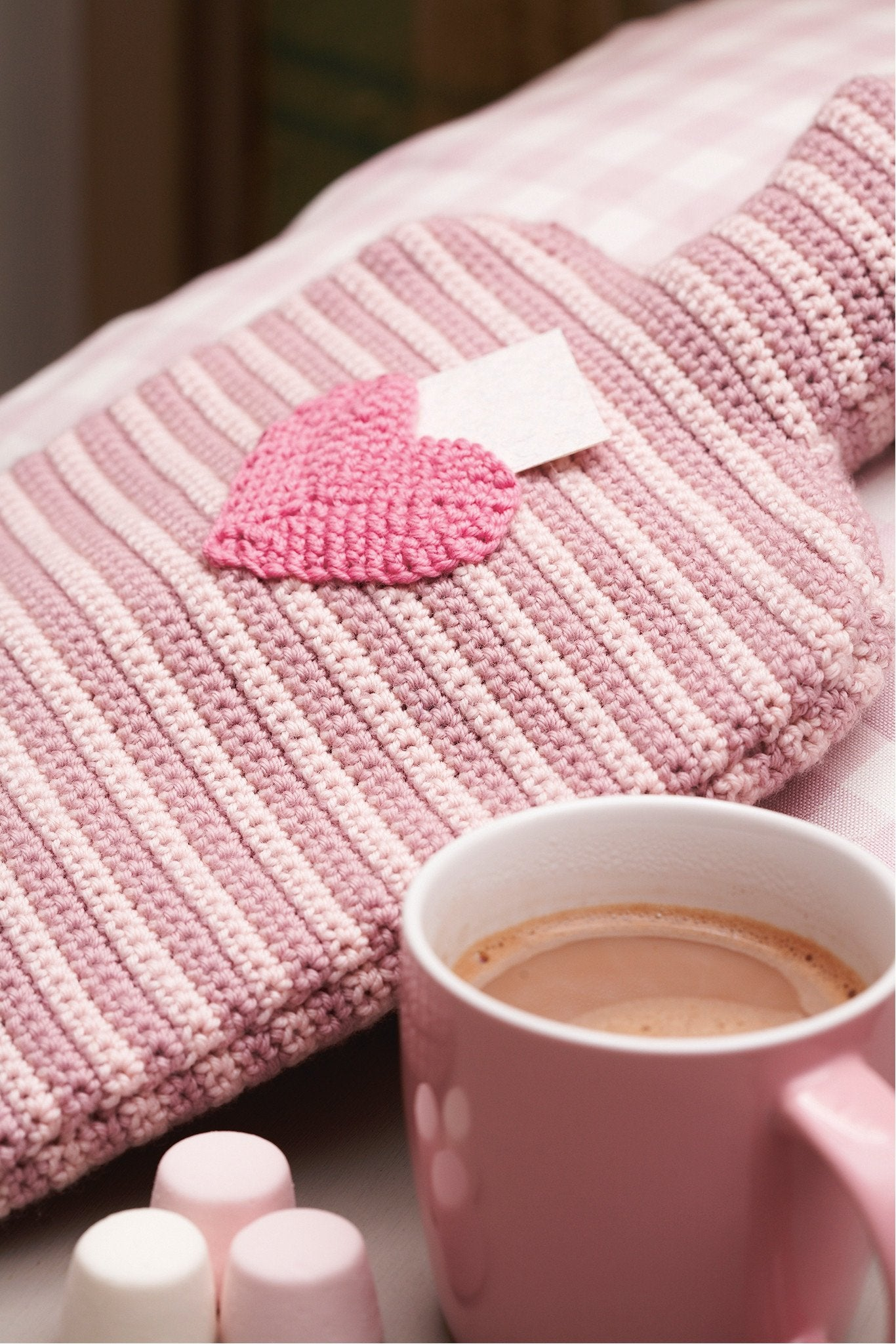Hot Water Bottle Cover With Heart Pocket Crochet Pattern – The ...