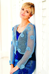 Women's crochet cardigan with floral design