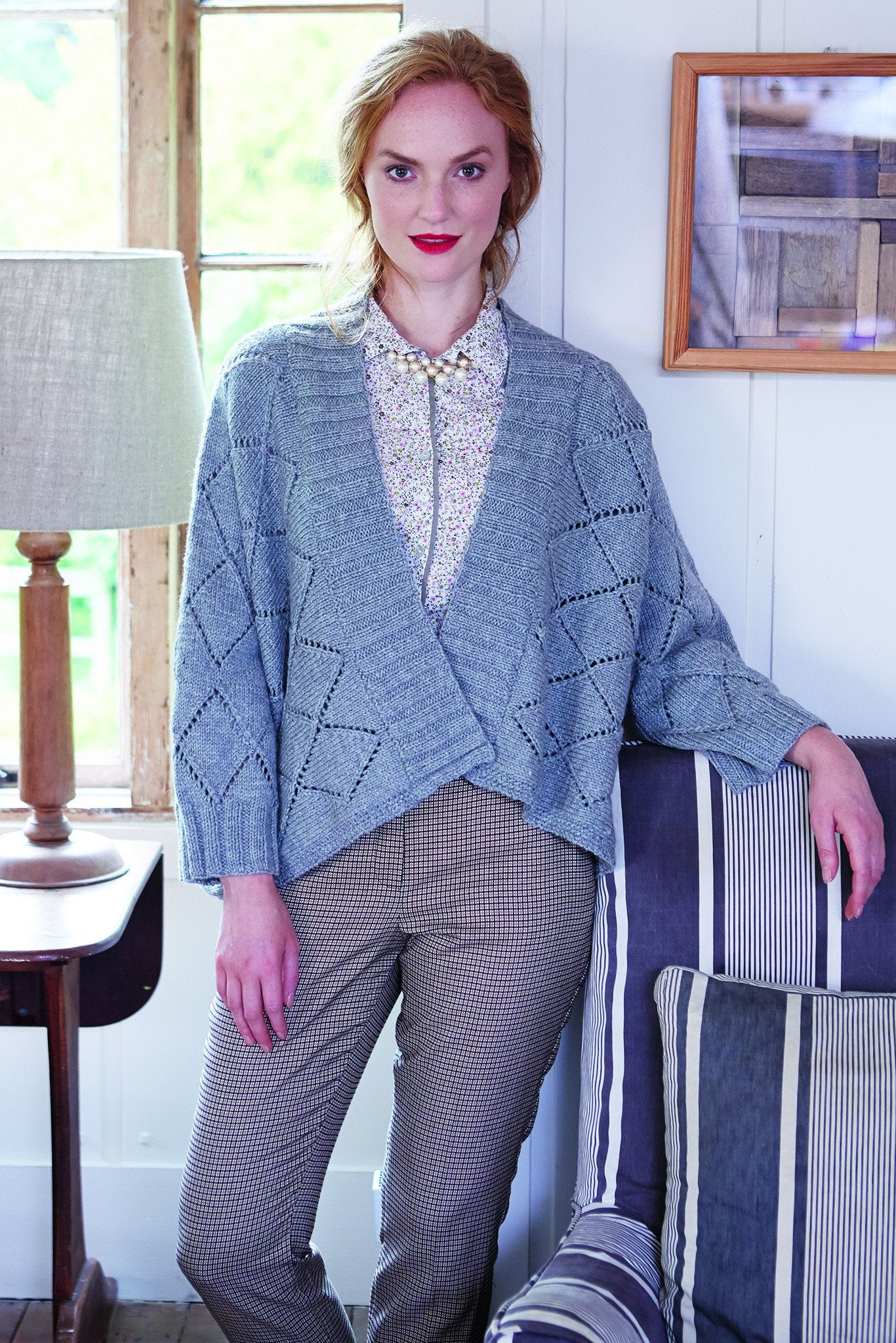 Ladies Lace Poncho Knitting Pattern – The Knitting Network