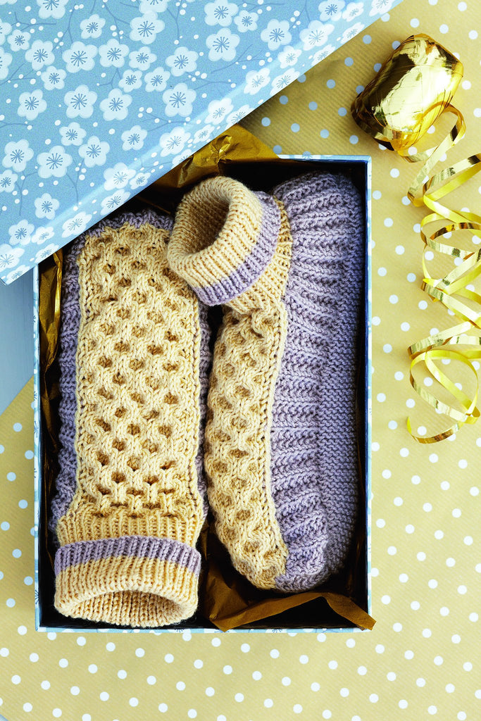 Ladies Slippers Knitting Pattern