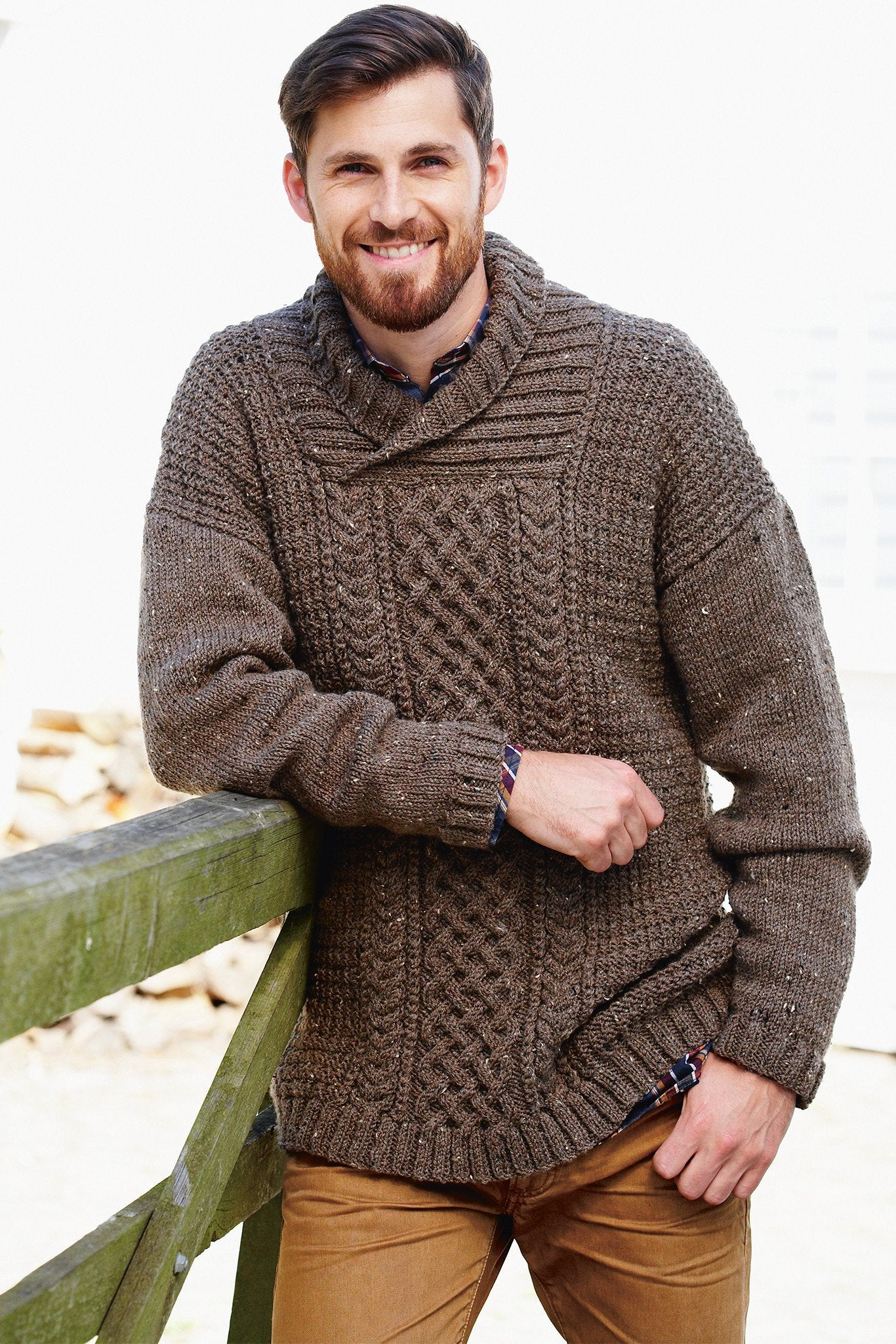 Mens Aran Sweater Knitting Pattern – The Knitting Network