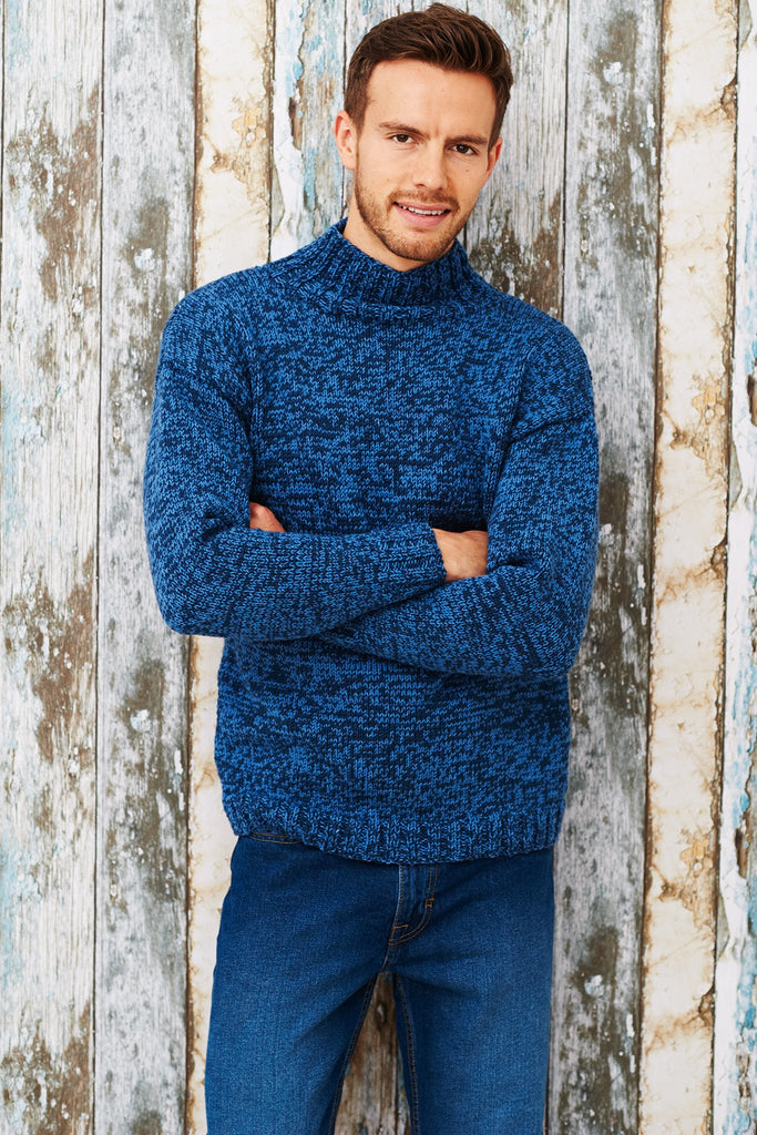 Mens Jumper Knitting Pattern : Mens Turtleneck Jumper Knitting Pattern   The Knitting Network
