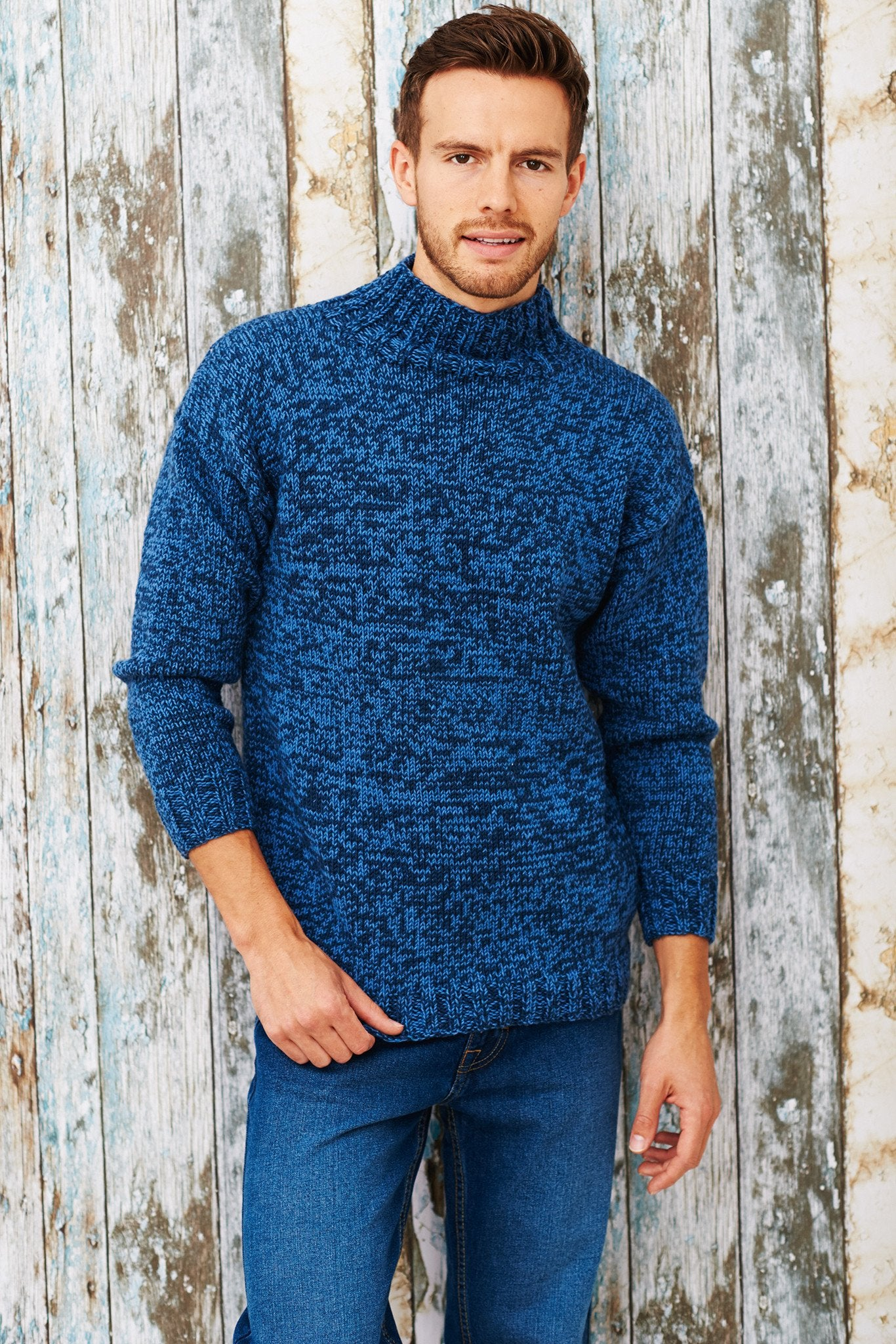 Free Knitting Pattern Mens Chunky Jumper : Mens Turtleneck Jumper Knitting Pattern   The Knitting Network