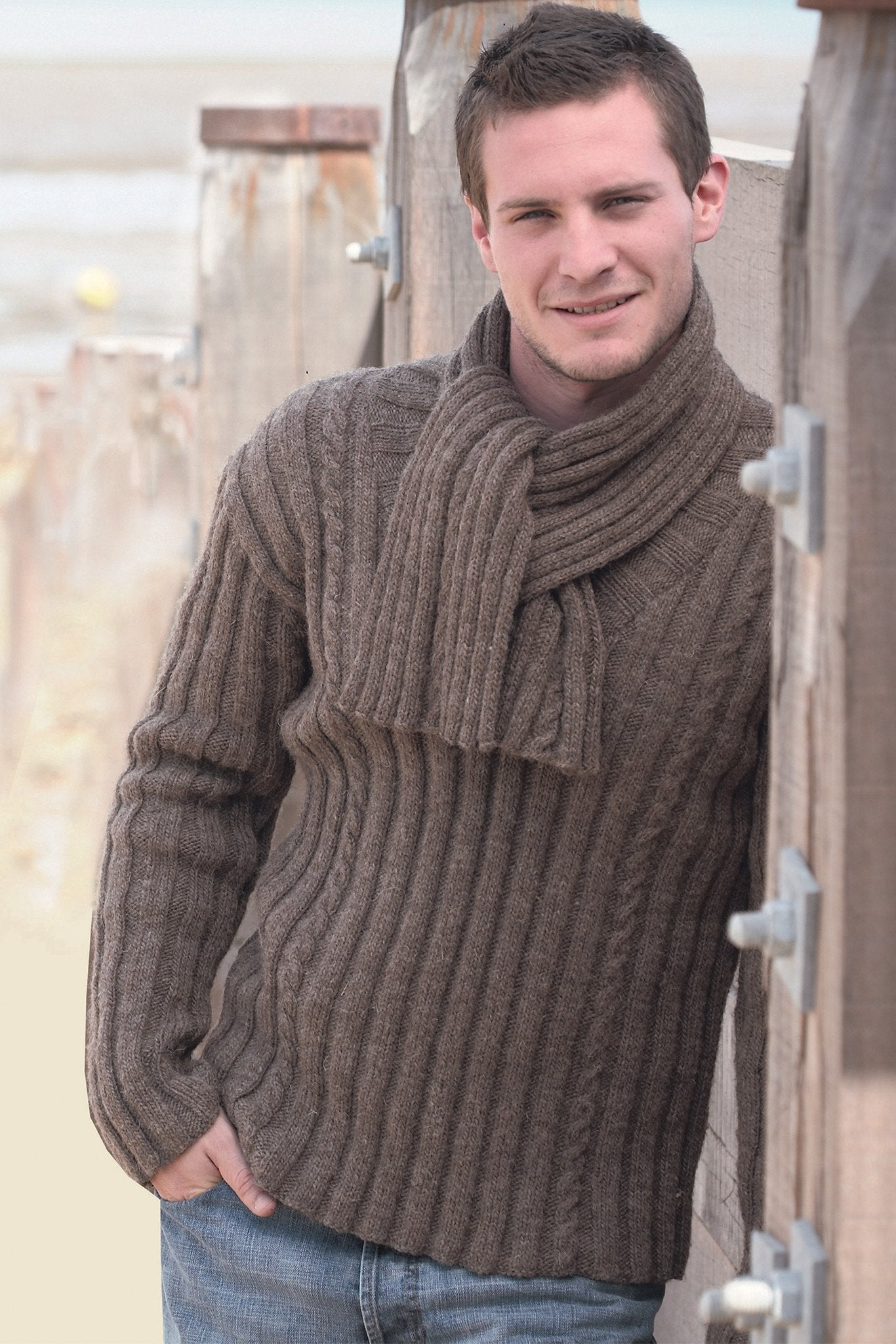Knitting Network Stickman : Mens jumper and scarf knitting patterns the network
