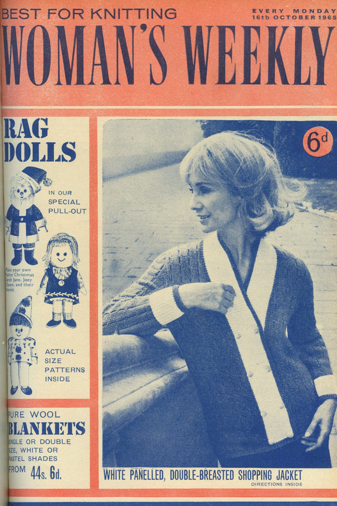 Cover of 1960s Woman's Weekly featuring casual retro women's jacket