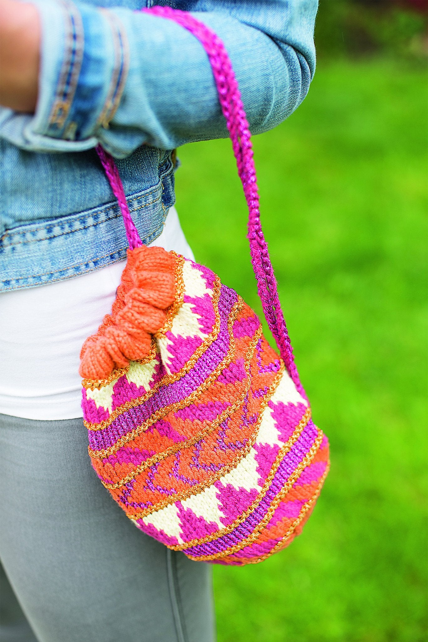 Patterned Drawstring Bag Knitting Pattern – The Knitting Network