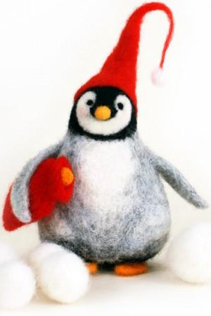 Christmas Penguin Needle Felting Workshop 28 November 2016