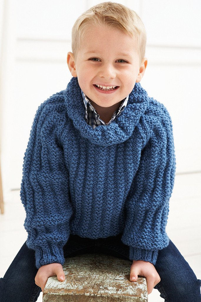 Knitting Pattern Roll Neck Jumper : Roll Neck Jumper Boys Vintage Knitting Pattern   The Knitting Network
