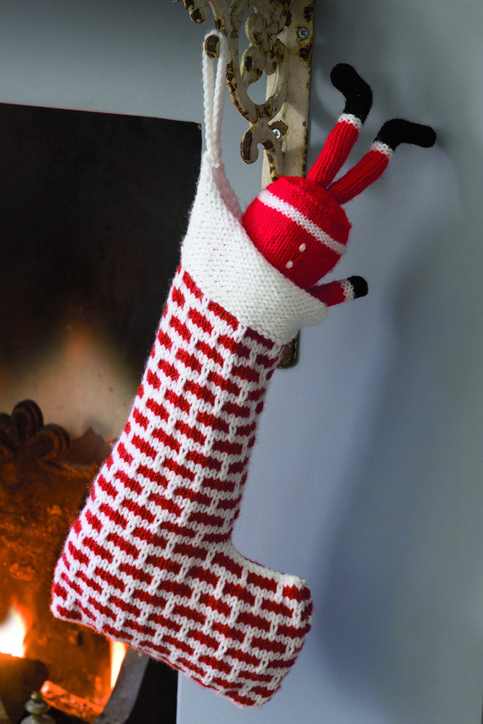 Santa Toy And Chimney Christmas Stocking Knitting Patterns – The ...