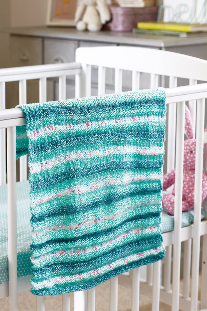 Knitting Network Stickman : Striped baby blanket knitting pattern the network