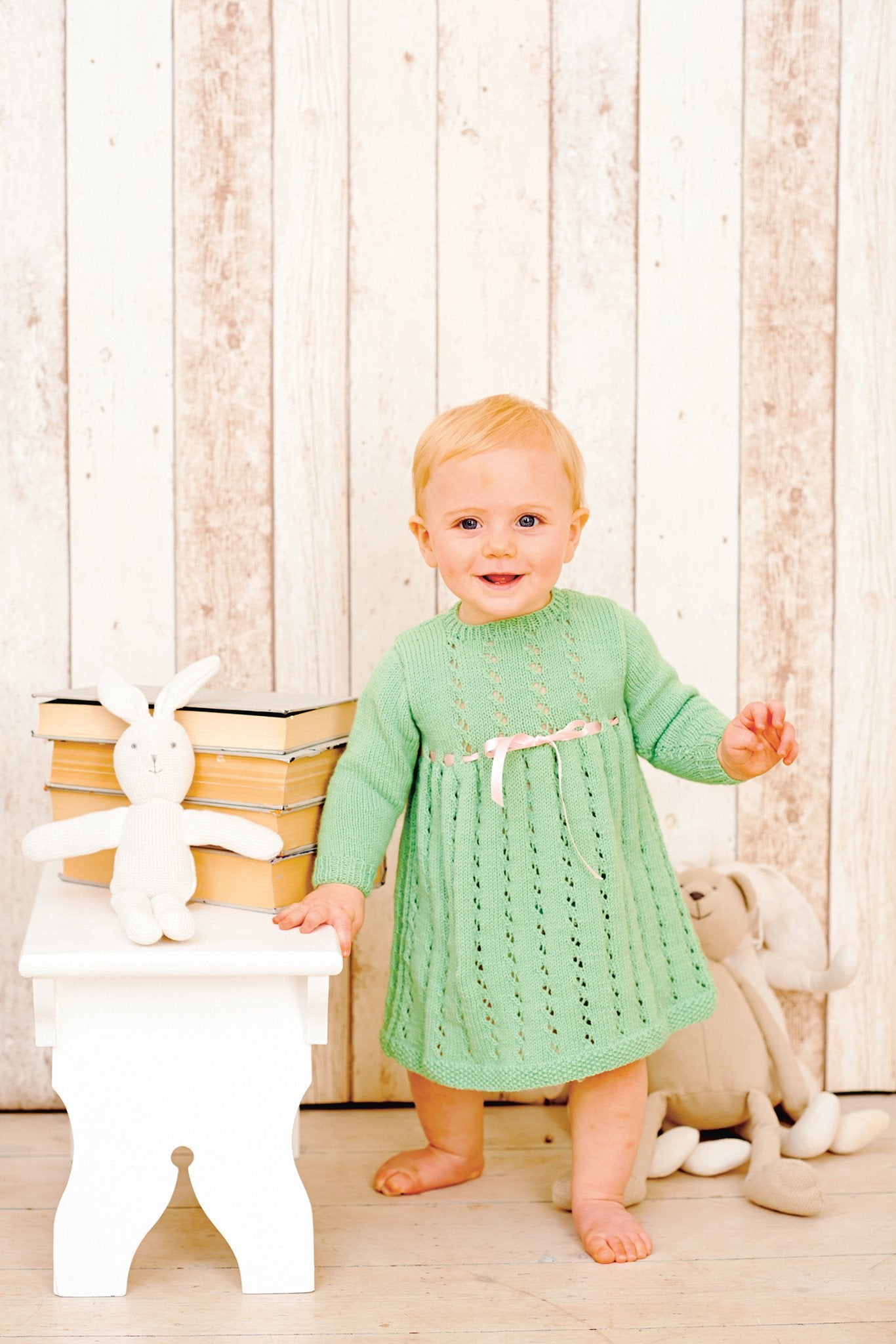 Vintage Baby Girls Dress Knitting Pattern – The Knitting Network