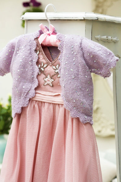 Vintage Girls Sequin Bolero Knitting Pattern - The ...