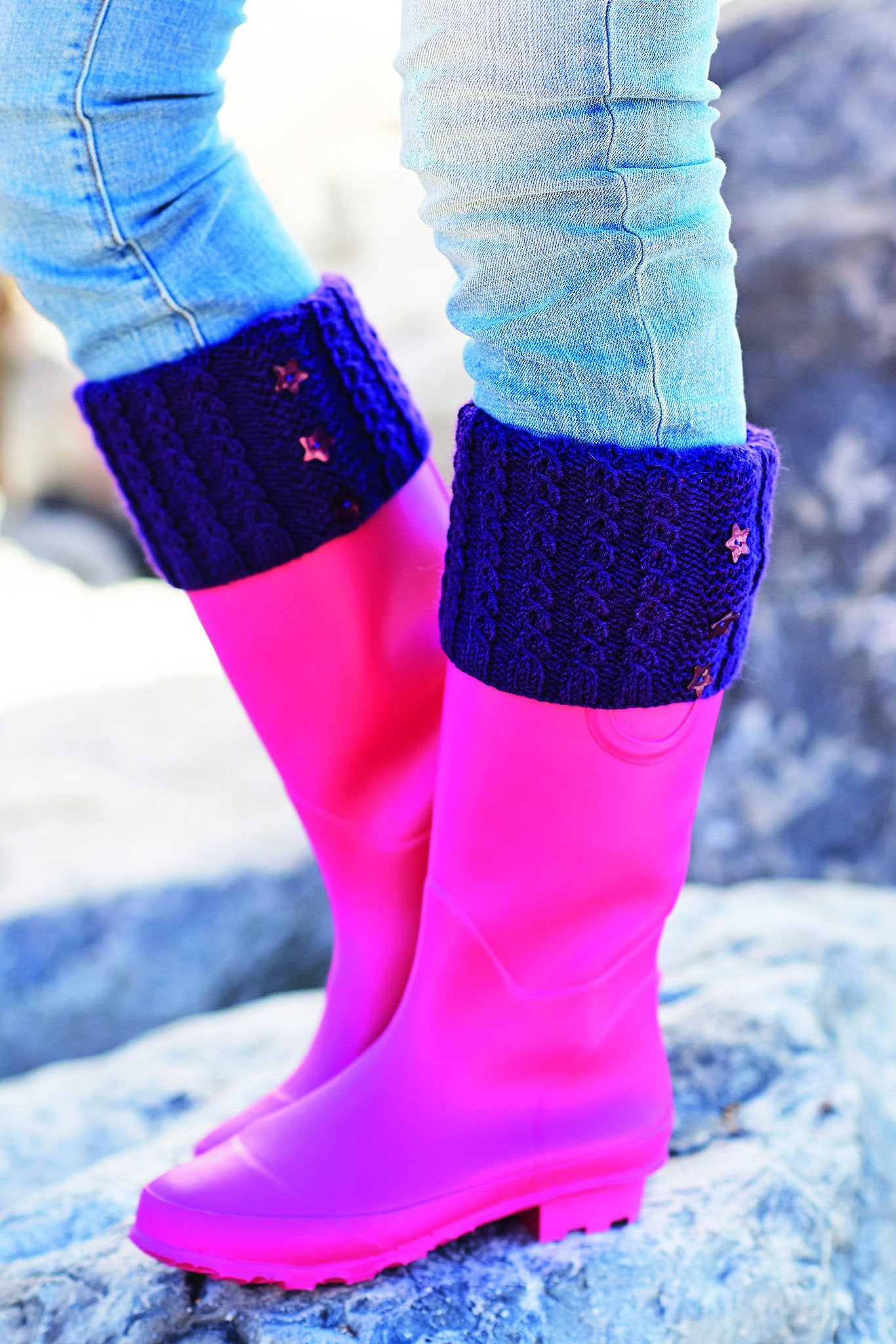 Wellington Boots Topper Knitting Pattern – The Knitting Network